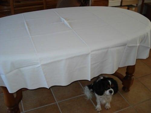 Comment confectionner une nappe ovale for Une nappe de table
