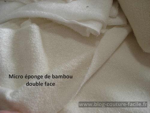 micro eponge de bambou double face
