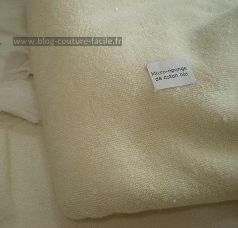 tissu micro eponge de coton bio