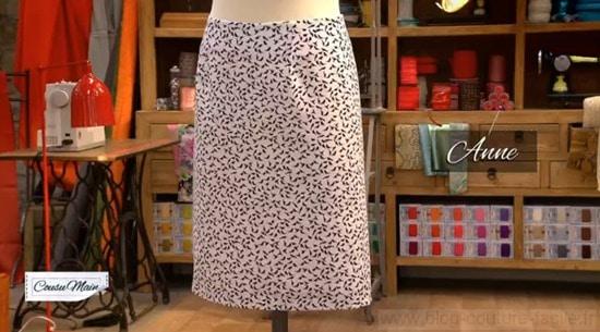 Comment coudre une jupe a la main - Patron couture jupe droite ...