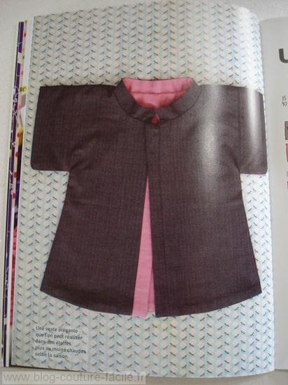 patron couture veste reversible bébé