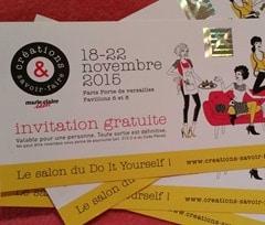 Blog couture facile la couture pour petits et grands - Salon creation et savoir faire invitation ...