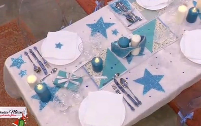 Cousu-main-M6-decoration-table-bleu