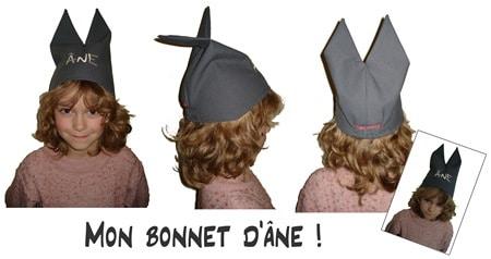 bonnet d'ane enfant