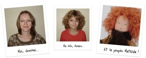 Moi Jennifer, Ma fille Ambre... et Mathilda !