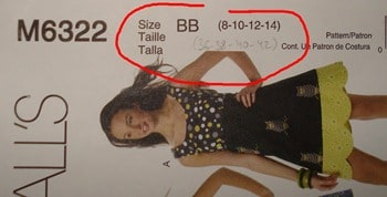 patron Mc calls taille