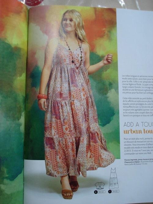 Maxi robe hippi Style Ottobre Design Femmes ete 2014