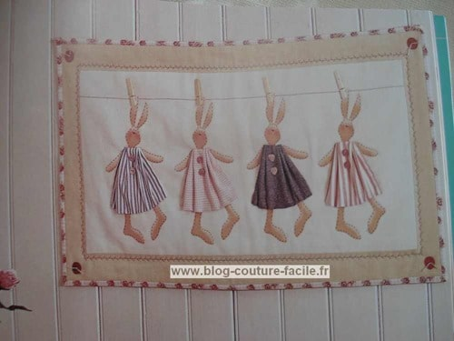 lapin applique tilda