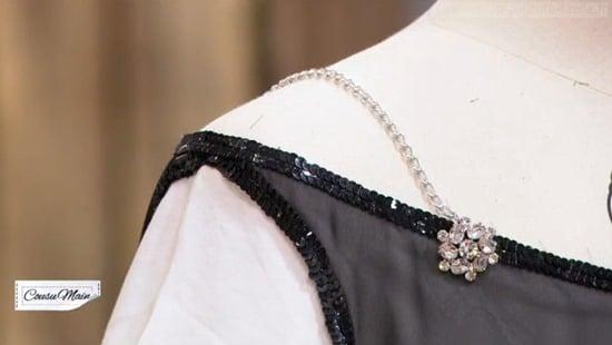 M6 cousu main T shirt blanc customise Adelino bijoux
