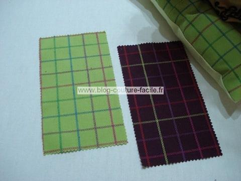 coudre avec des echantillons de tissu