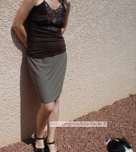 jupe droite coupe a plat