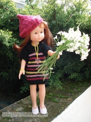 robe tricot poupee corolle