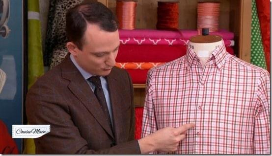 M6 cousu main chemise homme scavini