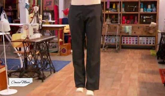 M6 cousu main pantalon homme Camille