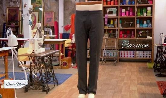 M6 cousu main pantalon homme Carmen
