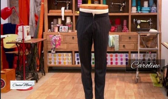 M6 cousu main pantalon homme Caroline