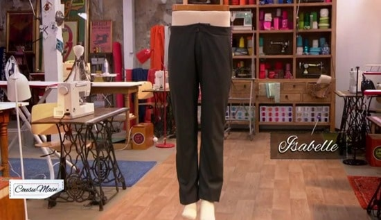 M6 cousu main pantalon homme Isabelle
