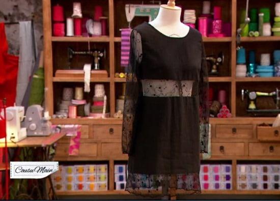 Robe noire customisee Amparo lellouche
