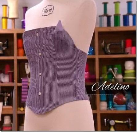 cousu main corset adelino