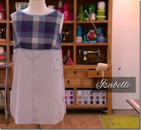 cousu main robe Isabelle