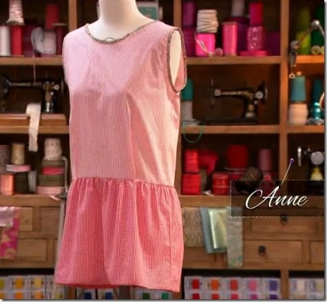 cousu main robe anne
