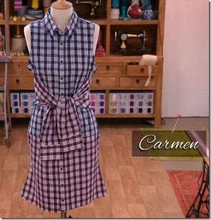 cousu main robe carmen
