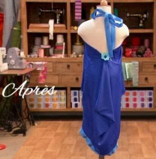 cousu main robe de cérémonie pour enfant Caroline