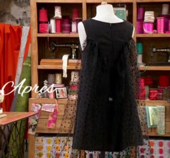 cousu main robe noire customisee caroline