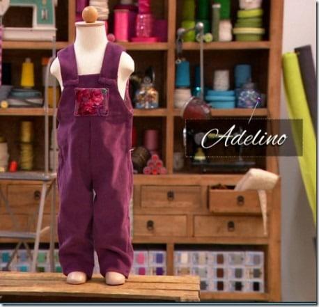 cousu main salopette Adelino