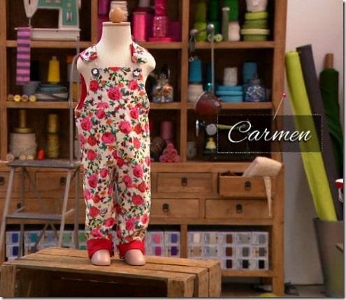 cousu main salopette Carmen
