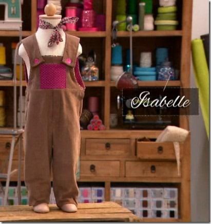 cousu main salopette Isabelle