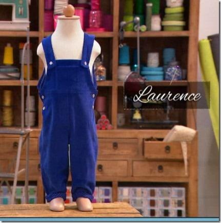 cousu main salopette Laurence