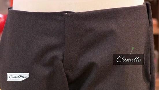 cousu main zip pantalon homme Camille