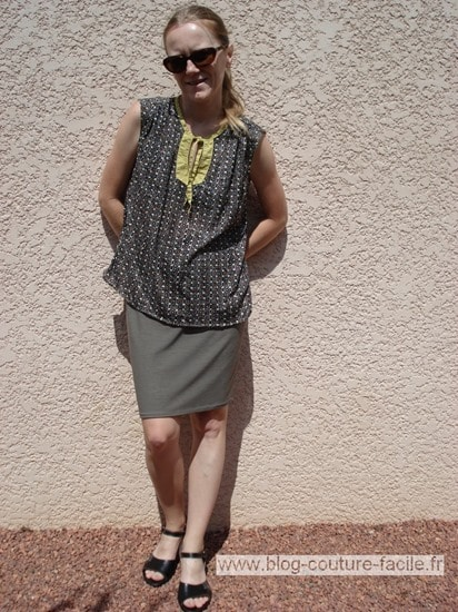 jupe droite blouse ottobre