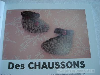 patron tricot chaussons bébé