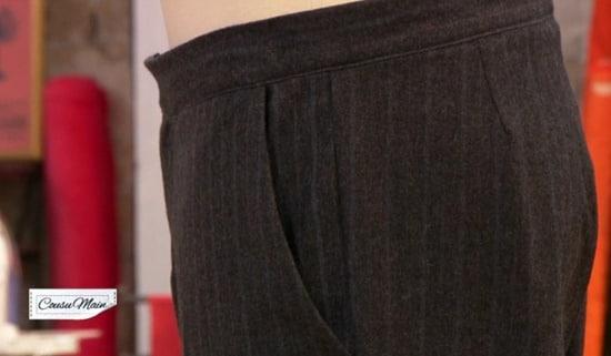 poche cousu main pantalon homme anne
