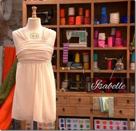cousu main robe sans patron Isabelle