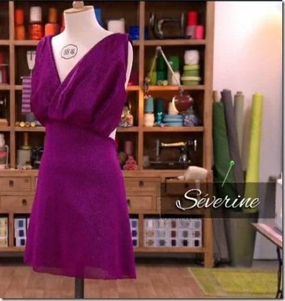 cousu main robe sans patron Severine