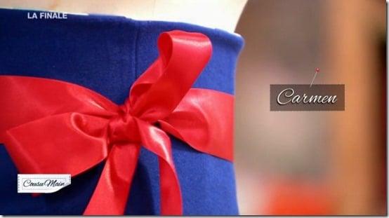 finale cousu main jupe customisée noeud carmen