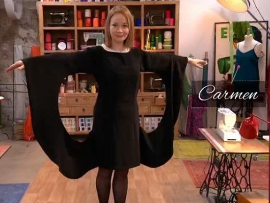 robe soirée finale cousu main Carmen