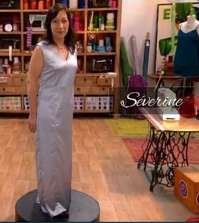robe soirée finale cousu main Séverine