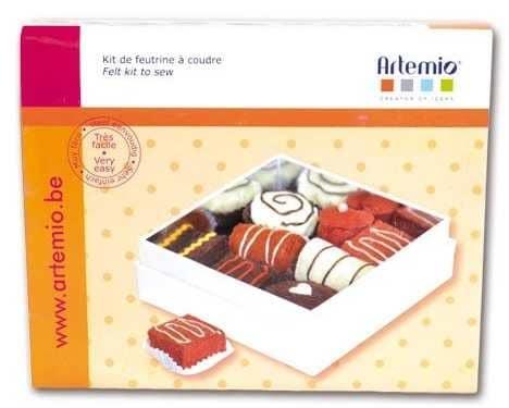 kit de feutrine à coudre chocolat