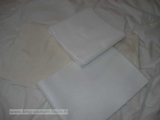 tissu pour lingette lavable