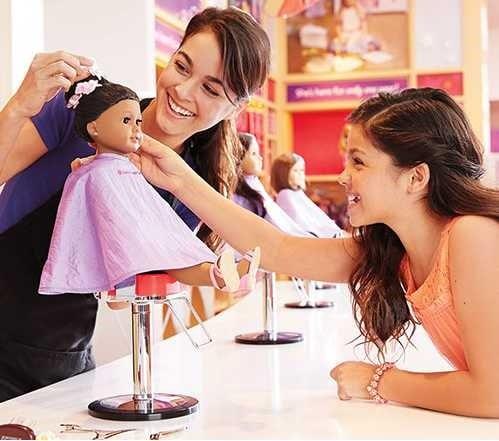 salon de coiffure poupee american girl