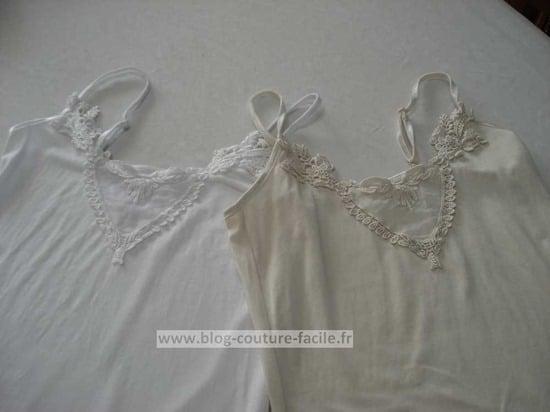 fond de robe blanc et beige