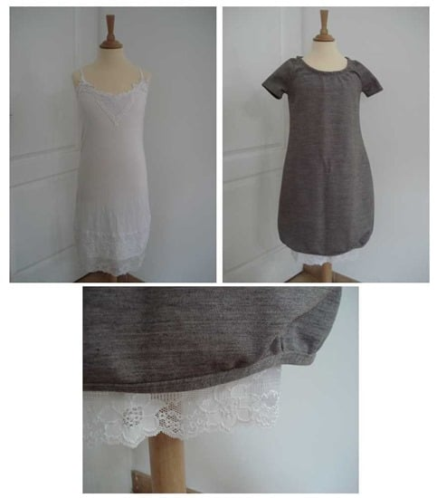 robe et fond de robe