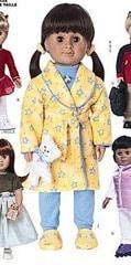 Peignoir et pyjama poupee american girl