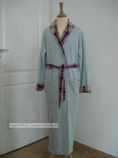 Comment coudre une robe de chambre - Patron gratuit robe de chambre femme ...