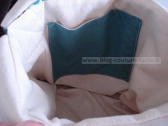 intérieur de sac tissu Tour eiffel