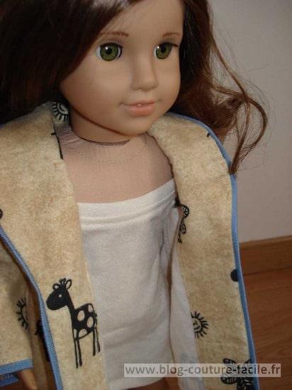 robe de chambre pour poupée